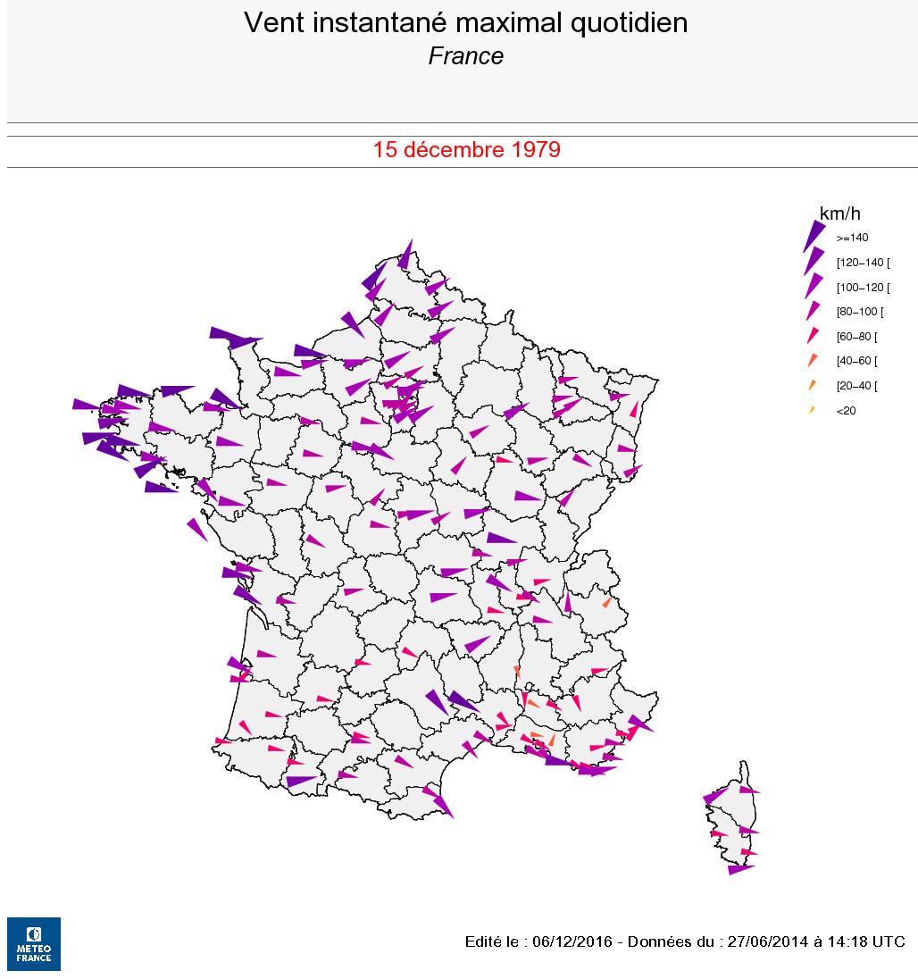 Tempête Du 15 Décembre 1979 Tempêtes En France Métropolitaine