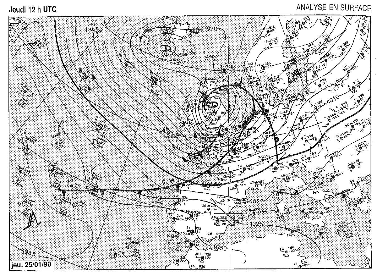 Analyse Surface 12 utc